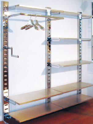 Sistema Mensole Componibili.Ripiano In Legno Cm 120x40 Per Mensole Per Espositori