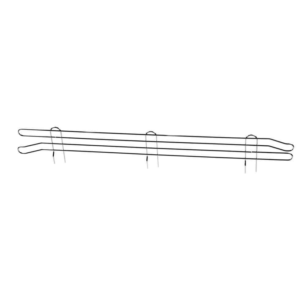 Spondina Laterale Cromata 35xh10cm Per Scaffalature Archimede