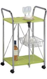 Carrello Da Cucina Pieghevole In Acciaio Cm58x44xh90 Verde