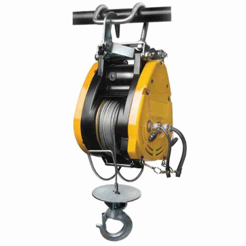 Verricello Elettrico 230v A Fune Con Gancio M30 Compatto Con Freno Per