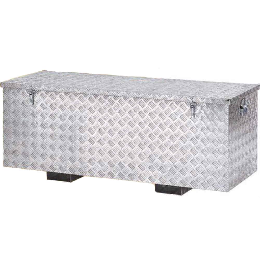 Baule Box Contenitore In Alluminio Cm140x53xh50 Cassa Porta Attrezzi M