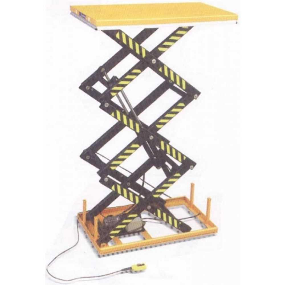 Piattaforma Elevatrice Elettrica A Pantografo Triplo Grande Alzata Pia