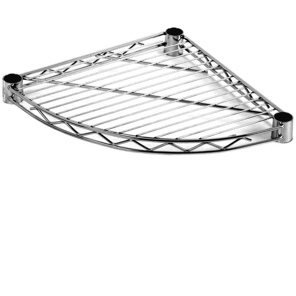 Ripiano Triangolare Stondato Cm35x35 Scaffalatura Archimede