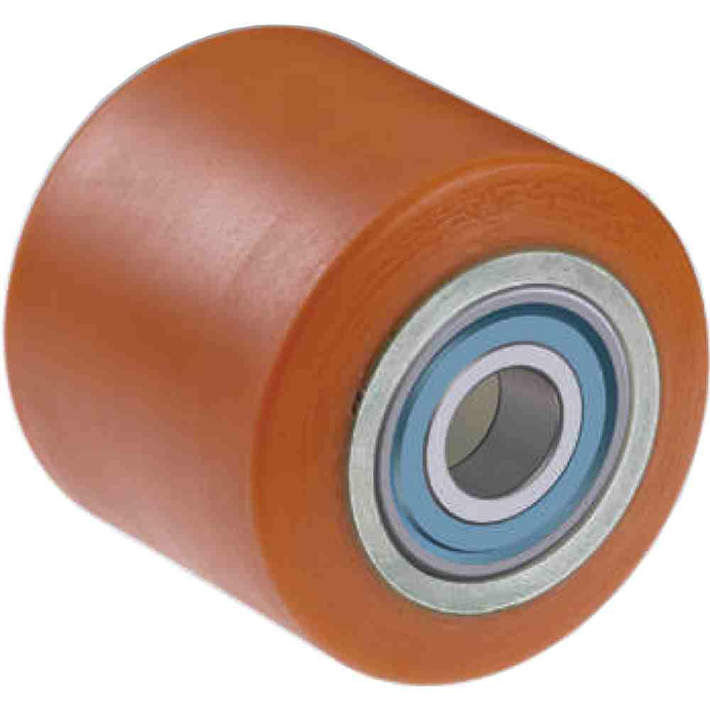 Rullo Ruote Per Transpallets Mm 80x60 Con Cuscinetti A Sfere In Acciai