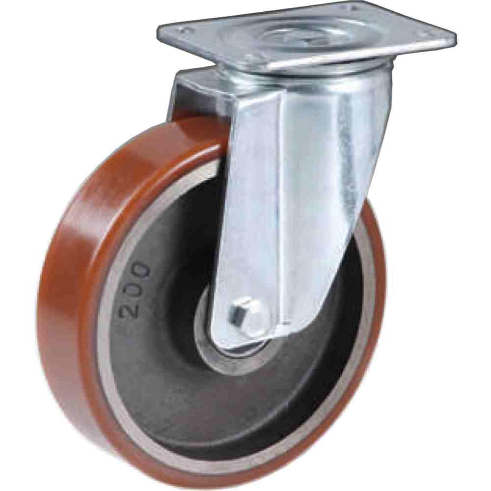 Ruota Ghisa Rivestita Poliuretano Diametro Mm80x25 P Kg160 Supporto Gi