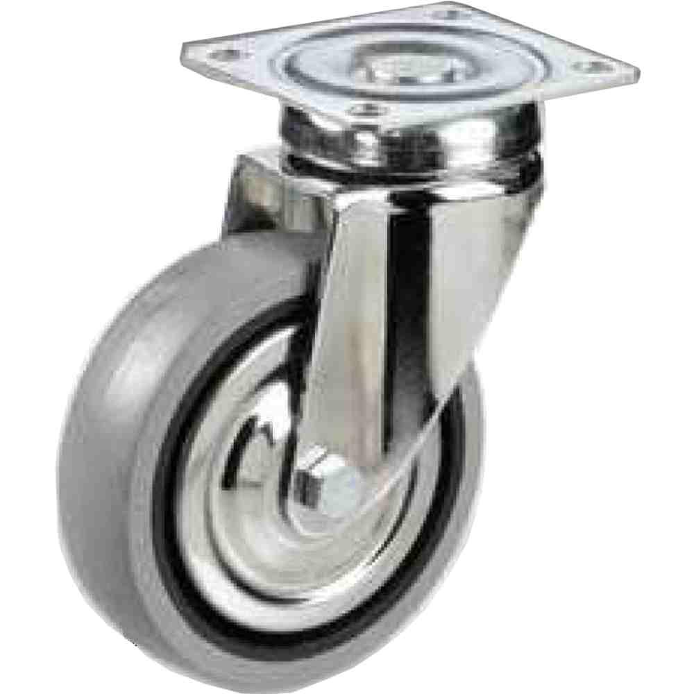Ruota Per Mobilia Carrelli Gomma Grigia Antitraccia Diametro Mm80x21 C