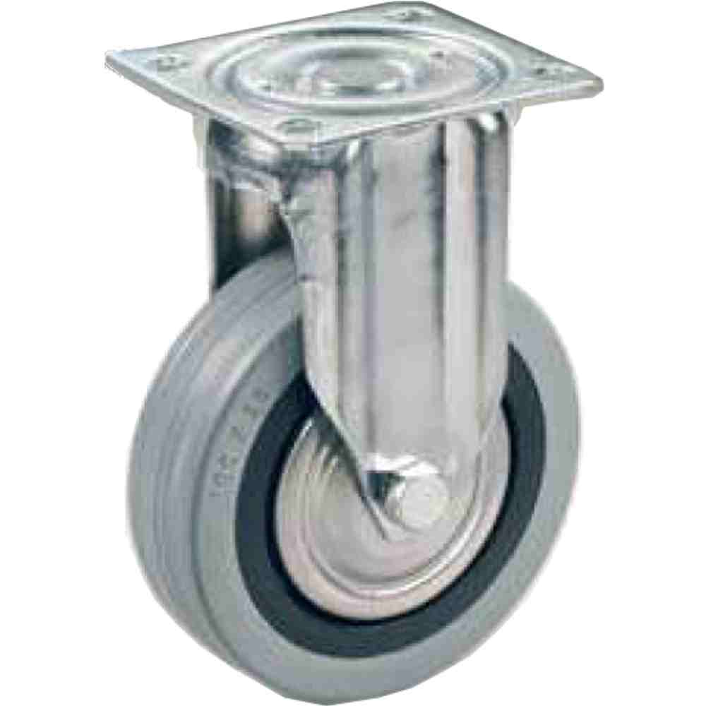 Ruota Per E Mobilia Gomma Grigia Antitraccia Diametro Mm100x28 Support