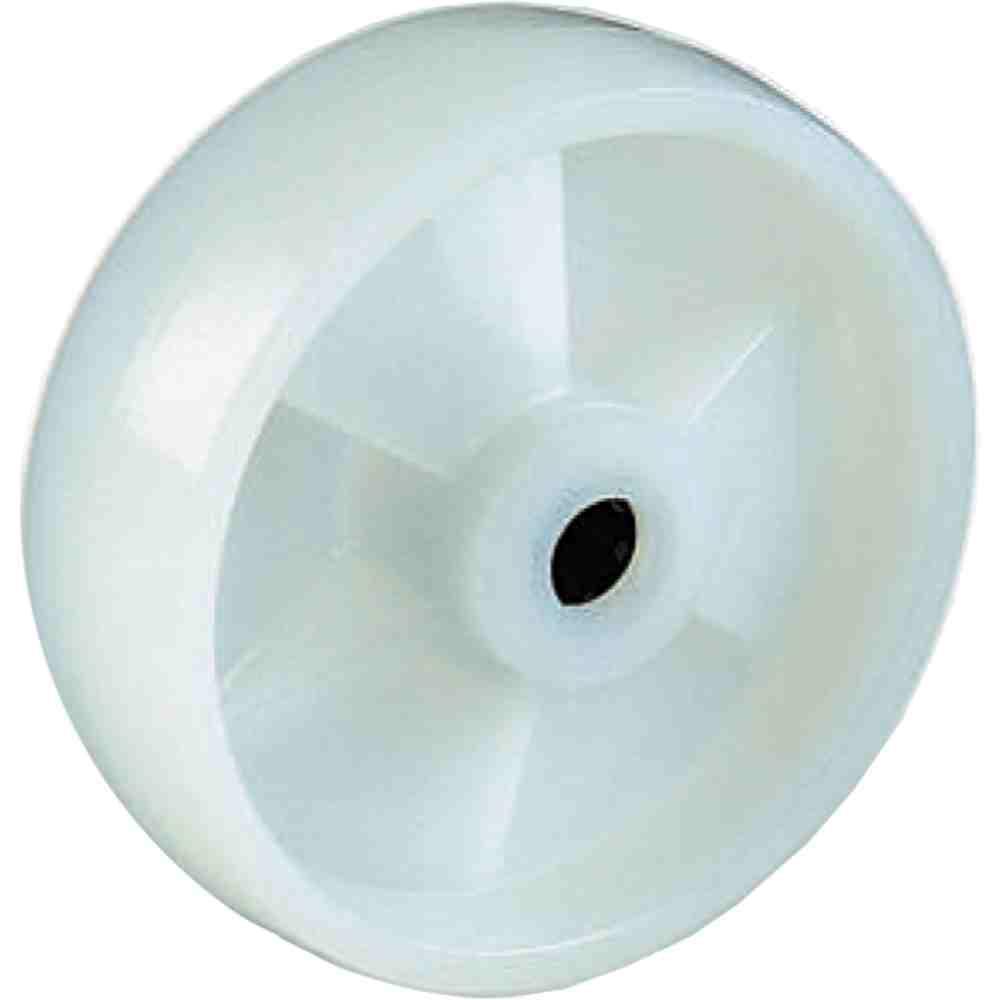 Ruota In Nylon Bianco Con Gabbia A Rulli D125x39 Per Carrelli