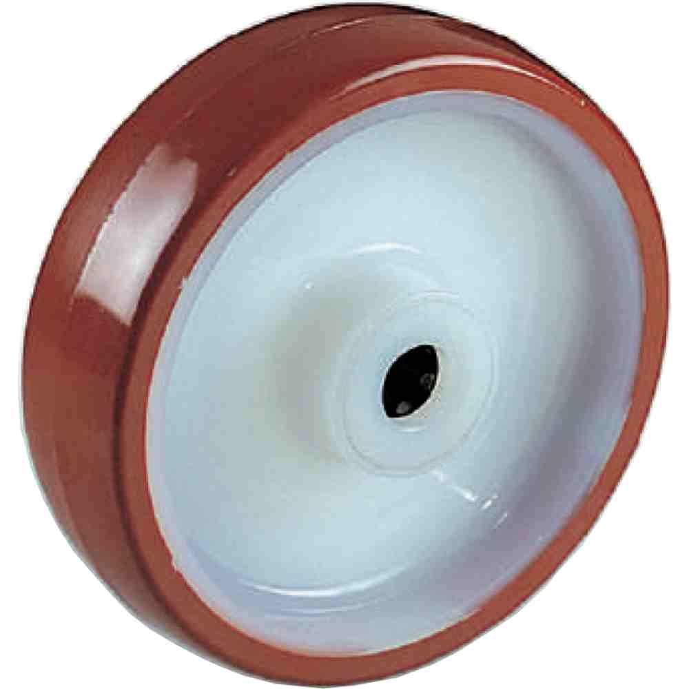 Ruota In Nylon Ricoperta In Poliuretano Con Gabbia Rulli D80x30