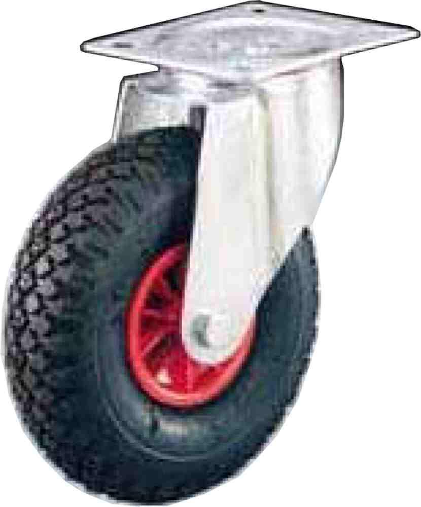 Ruota Pneumatica Disco In Plastica Staffa Rotante 260x85 Kg150