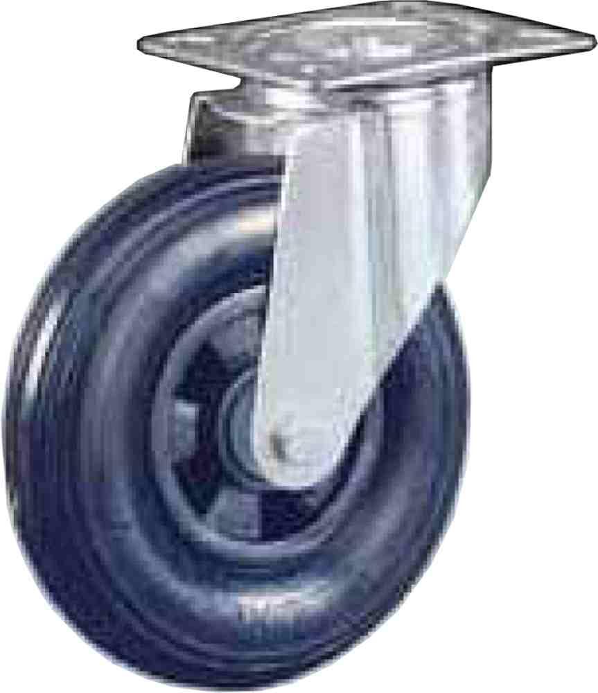 Ruota Pneumatica Supporto Rotante Gabbia Rulli Dmm200x50 Portata Kg75