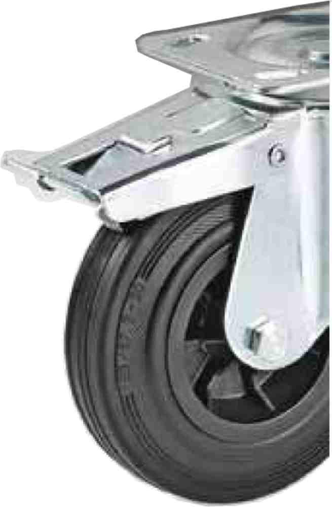 Ruota Plastica Staffa Rotante Freno D250x60 Kg245 Scp2502f